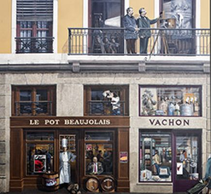 The slopes of the Croix-Rousse hill and the famous people of Lyon mural