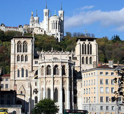 From Fourvière to the river Saône